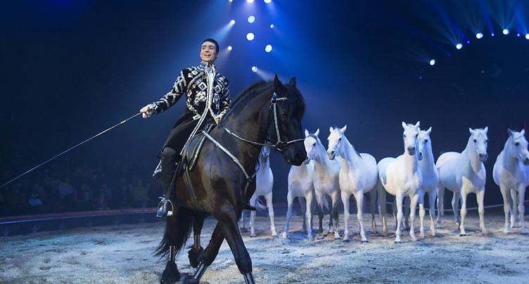 La 100e tournée du cirque Knie démarre à Rapperswil (SG)
