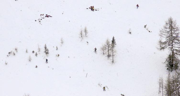 Une avalanche emporte quatre personnes au-dessus de Riddes (VS)