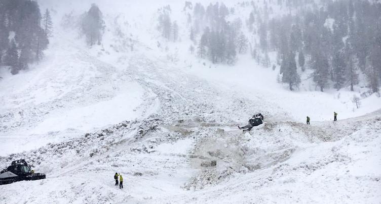 Riddes (VS): pas de recherches des skieurs disparus avant mardi