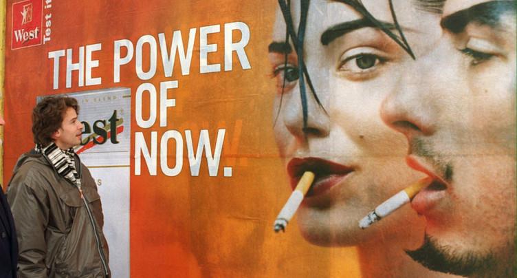 Tabac: initiative pour interdire toute publicité ciblant les jeunes