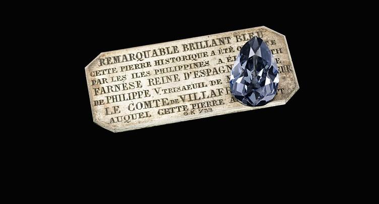 Un diamant bleu historique en vente à Genève
