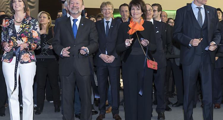 Doris Leuthard ouvre officiellement l'édition 2018 de Baselworld