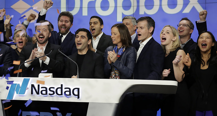 Dropbox décolle pour sa première cotation à Wall Street
