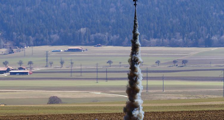 Une équipe de l'EPFL lance une fusée à Cernier (NE)