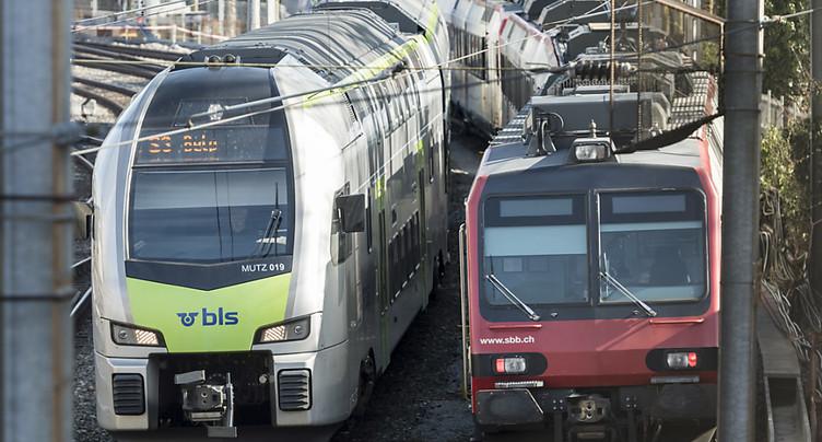 BLS devrait reprendre Berne-Bienne et Berne-Berthoud-Olten