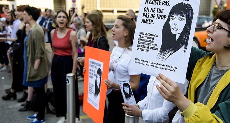 Protestation contre le concert de Bertrand Cantat à Lausanne