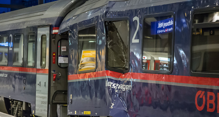 Train venant de Zurich accidenté en gare de Salzbourg: des blessés