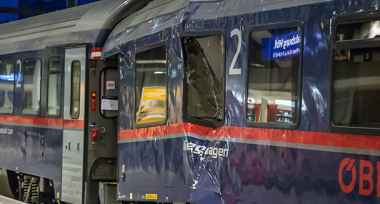 Train venant de Zurich accidenté en gare de Salzbourg: des blessés