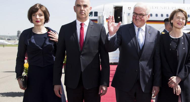 Le président allemand Frank-Walter Steinmeier a atterri à Zurich