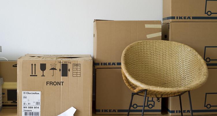 Un locataire sur quatre ne peut se permettre de déménager en Suisse