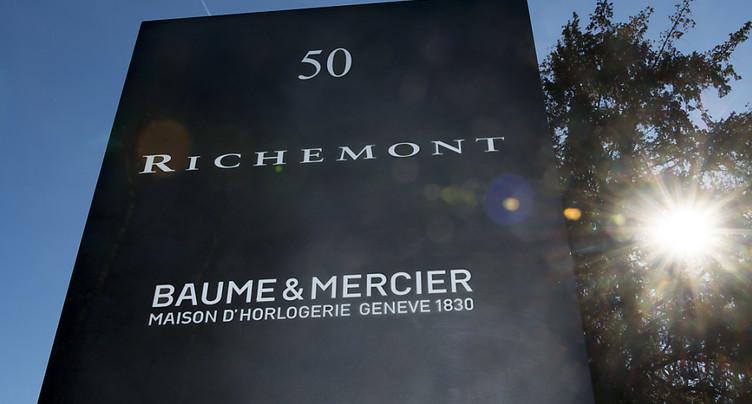 Richemont: bénéfice de 1,22 milliard d'euros lors de son exercice