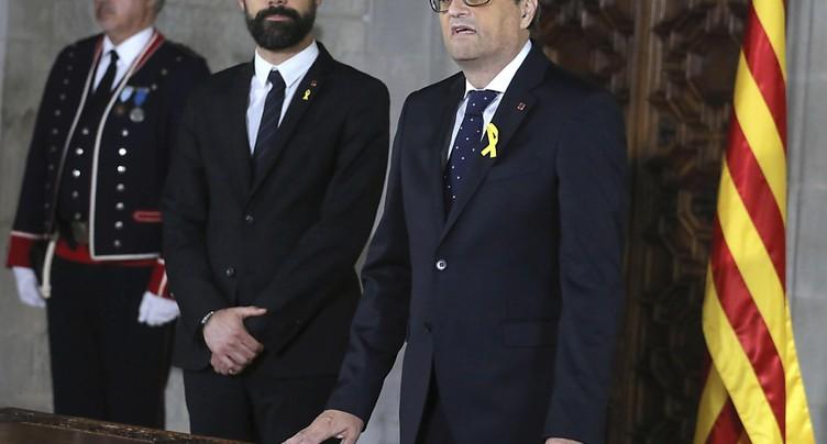 Le président catalan Quim Torra inclut prisonniers et exilés dans son gouvernement