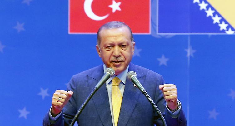 Le président turc Recep Tayyip Erdogan appelle les Turcs d'Europe à le soutenir