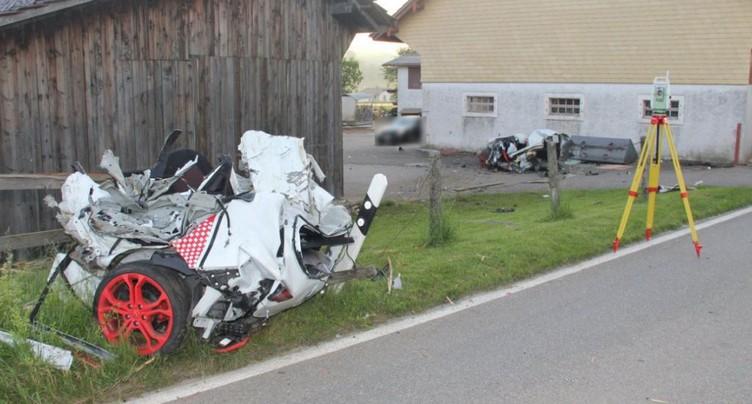 Accident mortel à Courfaivre (JU): la voiture a été coupée en deux