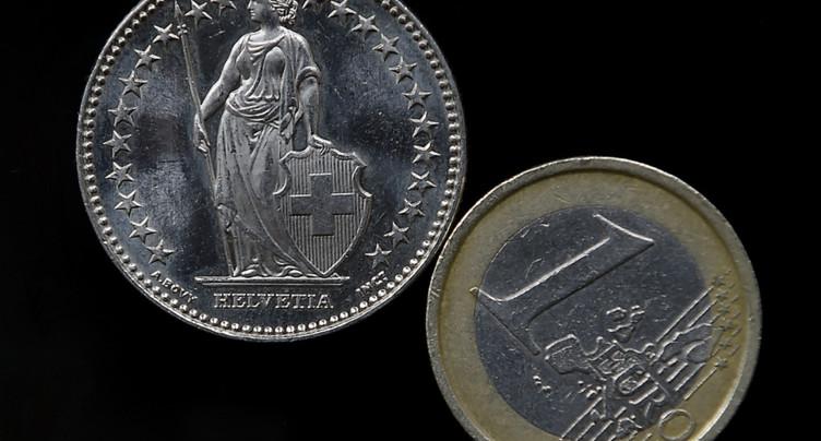 L'euro repasse sous 1,17 franc, à son plus bas depuis deux mois