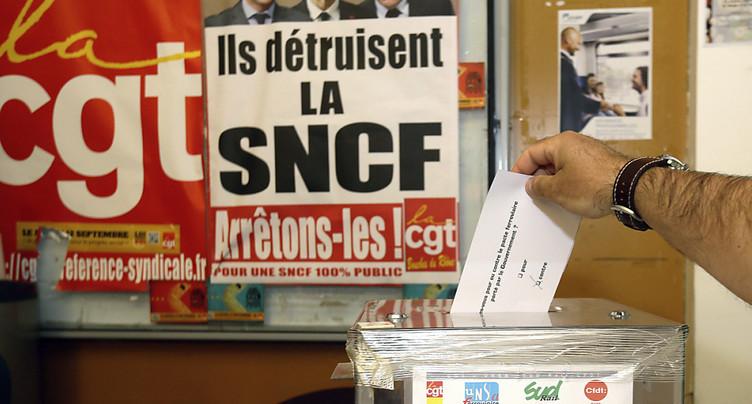 Les cheminots massivement opposés à la réforme de la SNCF