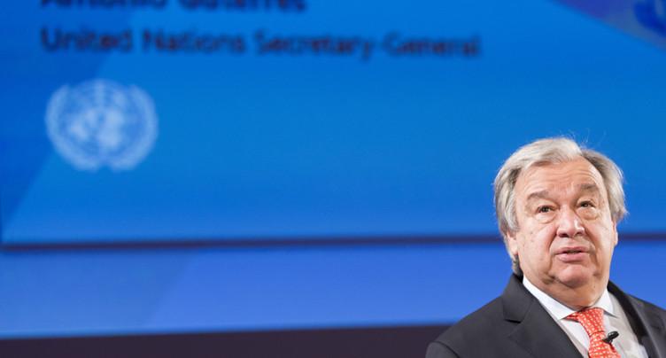Guterres part en guerre pour le désarmement dans le monde