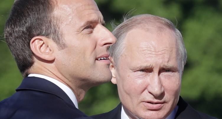 Iran, Syrie et Ukraine: Macron veut des « initiatives communes » avec Poutine