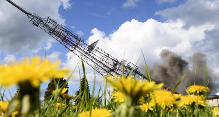 L'ancienne antenne de la Barillette (VD) a été dynamitée