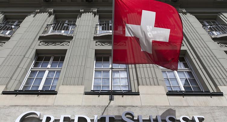 Credit Suisse plus optimiste pour la place financière helvétique