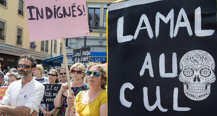 Petite mobilisation citoyenne contre la Lamal et les primes
