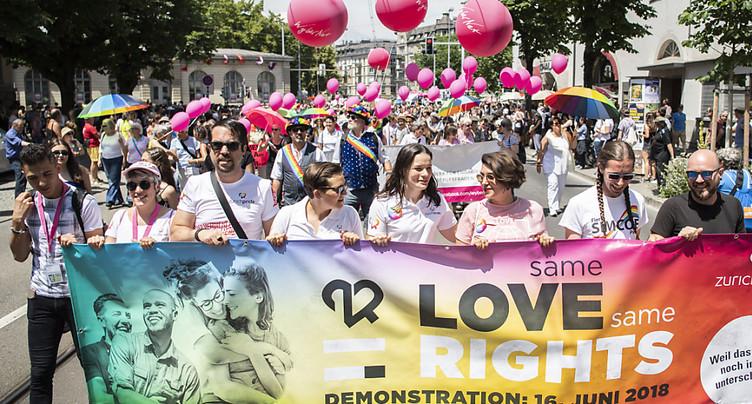 Zurich Pride Festival: « Nous voulons le mariage pour tous »