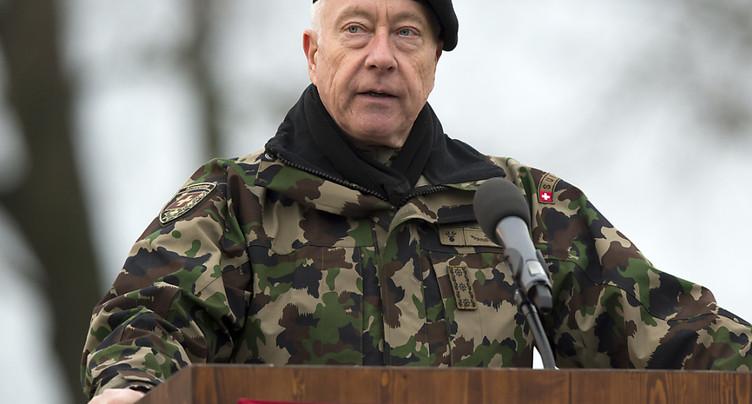 Enregistrement d'un discours d'André Blattmann: officier acquitté