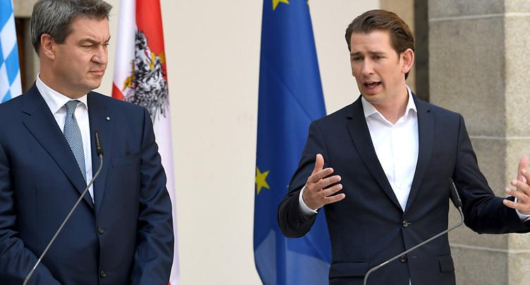 Sebastian Kurz agite le spectre d'une « catastrophe » migratoire
