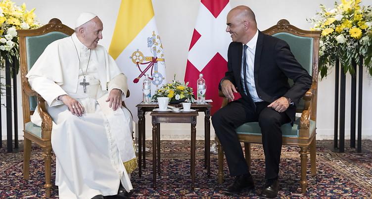 Le pape demande à la Suisse de « désamorcer les conflits »