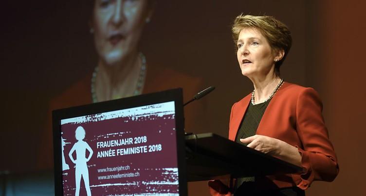 Lausanne: Simonetta Sommaruga plaide pour la cause des femmes