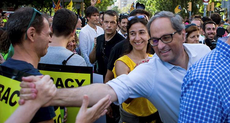 Manifestation à Barcelone pour la libération des indépendantistes