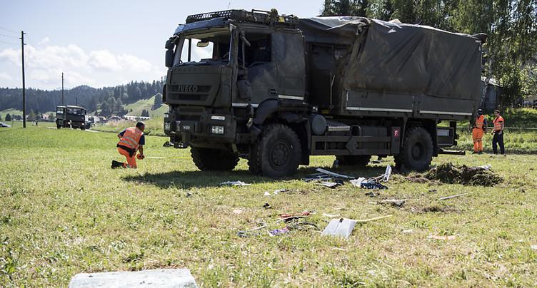 Des blessés dans un accident avec un véhicule militaire à Linden BE