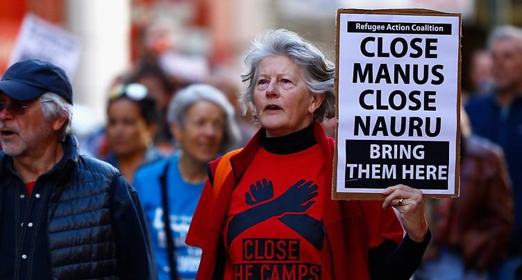 Manifestations contre la politique d'immigration du gouvernement australien