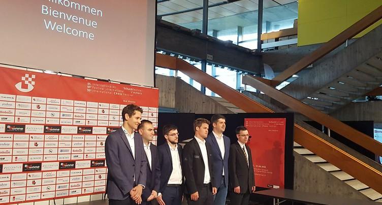 Coup d'envoi à Bienne du festival international d'échecs