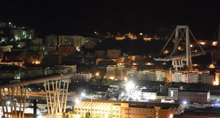A Gênes, deuxième nuit de recherches dans les décombres du viaduc