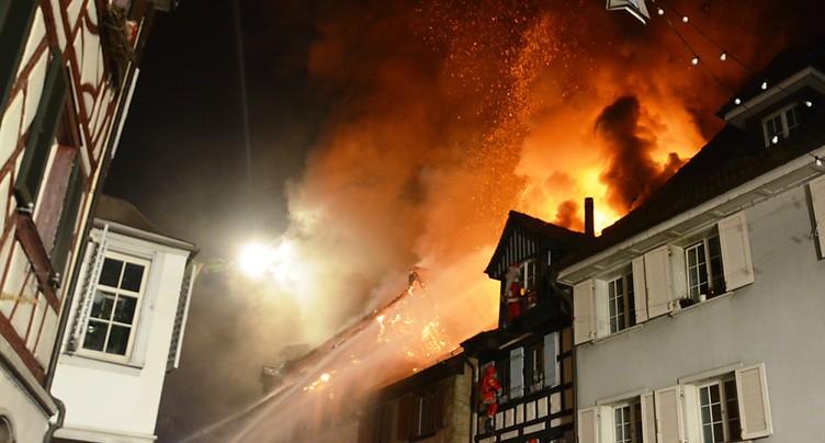 Procès d'un couple accusé de négligence dans l'incendie en vieille-ville de Steckborn (TG)