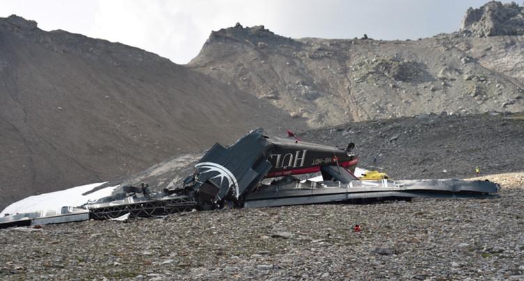 Crash du 4 août dans les Grisons: l'avion est tombé en spirale