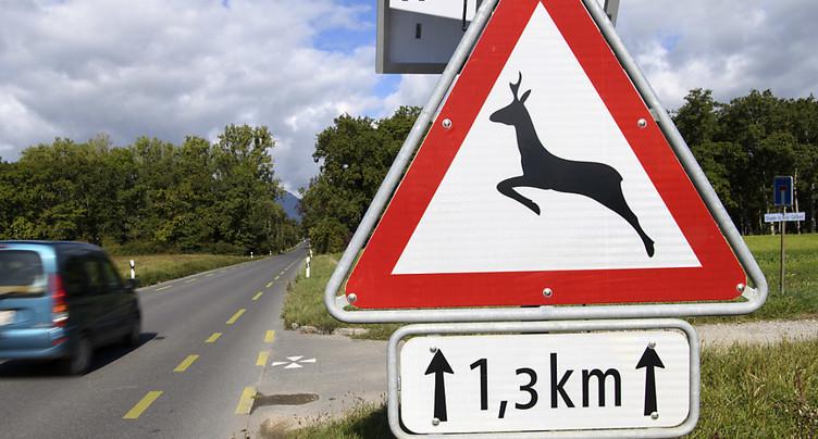 Vitesse réduite à 60 km/h sur la route de Sauverny (GE)
