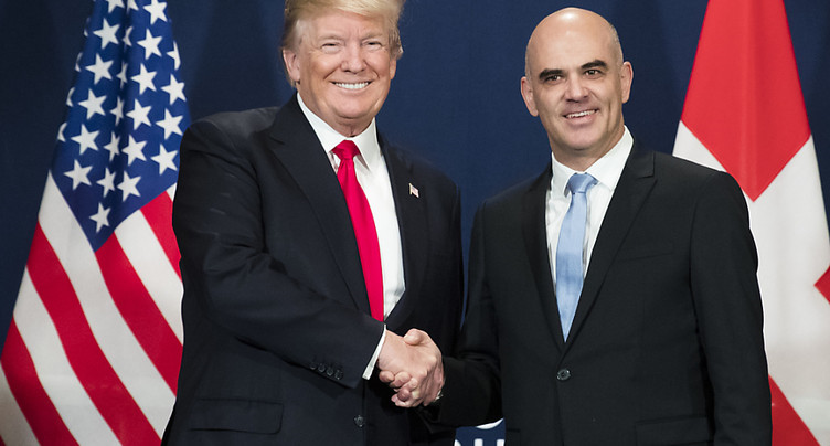 Trump remercie Alain Berset pour « les bons moments vécus en Suisse »