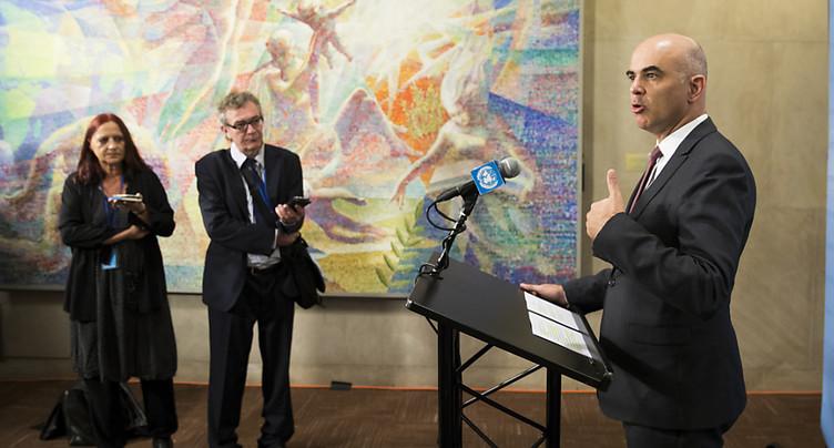 Alain Berset en porte-à-faux avec le discours de Trump à l'ONU