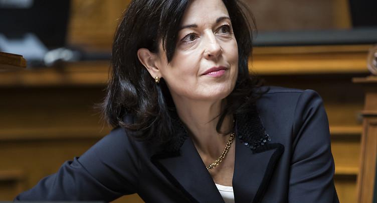Regine Sauter pas candidate à la succession de J. Schneider-Ammann