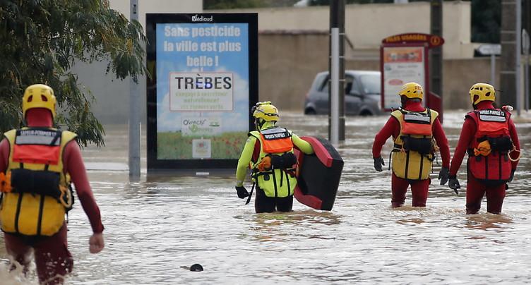 Orages et inondations: un mort et deux disparus dans l'Aude