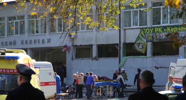 Carnage dans un lycée en Crimée: 13 morts, cinquantaine de blessés