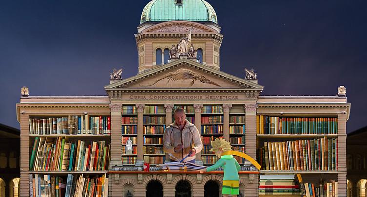 « Le Petit Prince » s'affiche sur le Palais fédéral