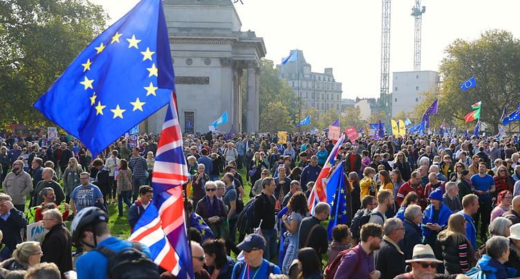 Manifestation à Londres pour un second référendum sur le Brexit