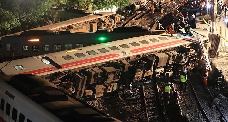 Le déraillement d'un train à Taïwan fait 18 morts et 160 blessés