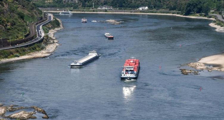 Importations d'hydrocarbures réduites à cause du bas niveau du Rhin