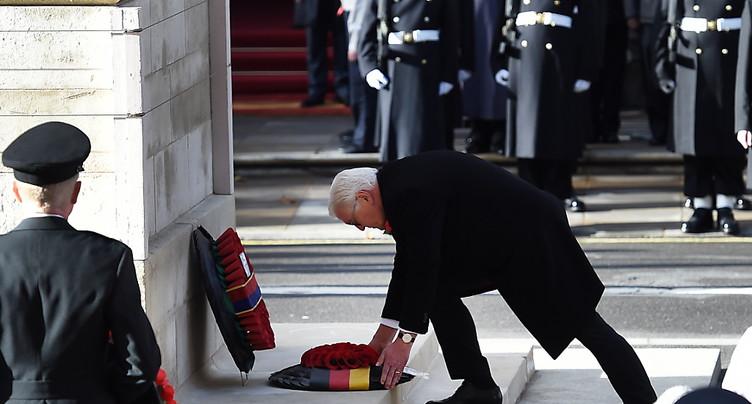 Le président allemand participe à la commémoration à Londres