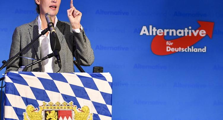 Une société suisse aurait financé l'AfD - appels à la démission