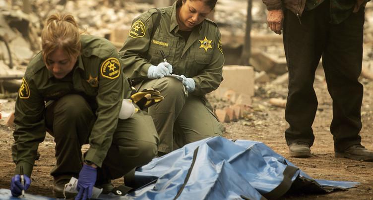 Incendies en Californie: le bilan s'alourdit encore à 58 morts